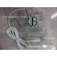 8025 透明带灯散热风扇 8厘米 12V 24V 机箱风扇