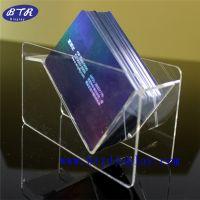 供应亚克力名片座厂家/压克力透明名片盒/订做有机玻璃V形桌面卡片座
