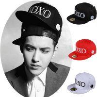 EXO XOXO 韩版狼与美女 款宣传打歌同款嘻哈棉质太阳帽平沿帽子