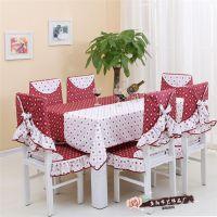地中海新款餐桌布布艺餐椅垫套装 厂家直销圣诞椅子套桌布茶几布