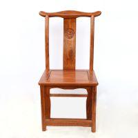 供应批发花梨木仿古椅子 古典中式实木靠背椅 木质官帽椅厂家直销