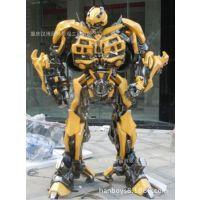 供应重庆玻璃钢厂家 定做变形金刚雕塑 大黄蜂雕塑 电影橱窗人物模型