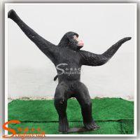 供应仿真动物雕塑 树脂仿真猴子 假动物工艺品
