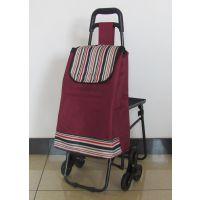 厂家直销 便携超市购物车 可折叠带凳子拉杆车 爬楼行李车 礼品