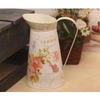 特价促销 迷你贴纸铁艺花盆 洒花器 洒水壶LP12012B