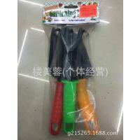 T010-3PC儿童木柄园林工具套装吊卡,铲子,耙子