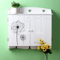 田园木质电表箱遮挡箱 横款装饰箱 画推拉电表盒贴变电箱大欧式