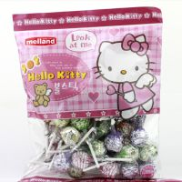 韩国进口零食品糖果 国际牌hello kitty棒棒糖 500g/包 12包/箱