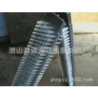 供应pvC尼龙条刷马尾铁皮条刷单排双排条刷钢丝刷