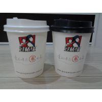 山东过桥缘奶茶纸杯10盎司咖啡纸杯订做
