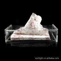 进口透明亚克力高档精美纸盒抽 高档有机玻璃透明方形纸巾盒定做