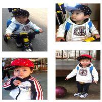 2015韩国新款儿童七彩刺绣圆点帽子潮男女童嘻哈帽平沿棒球帽