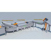 LDPE薄膜清洗线,废旧农膜地膜清洗回收生产线设备厂家价格