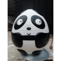 程爵雕塑厂家供应熊猫造型复活蛋雕塑