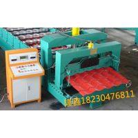 供应828琉璃瓦压瓦机 仿古琉璃瓦单板机 隆鑫机械