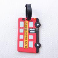 供应佳途时尚行李牌/旅游行李吊牌 登机牌 证件套 旅游用品 红色巴士