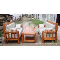 【专业品质】供应香樟木沙发三件套组合 实木沙发可定制(图)