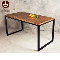 古德 简约现代办公家具铁艺实木办公桌 员工电脑桌 长方形条形桌