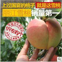 现货批发云南丽江雪桃新鲜桃子血桃桃子硬桃生鲜水果礼盒