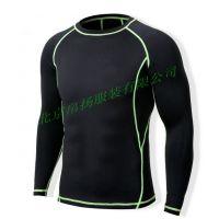 男式紧身训练服 运动健身服套装 排汗速干运动短款套装