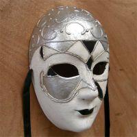供应威尼斯风格全脸面具节日派对纸浆假面舞会面具加工