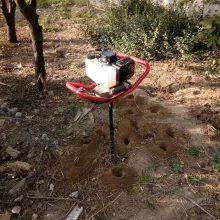 汽油植树钻坑机型号 高效率钻坑机 富民牌