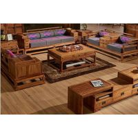 苏梨客厅家具图片苏梨新中式沙发刺猬紫檀