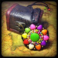民族风项链 复古 泰国蜡线手工编织 绿松石手工diy 景区旅游饰品