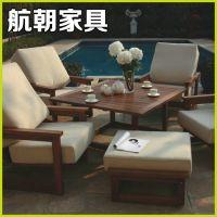 专业供应 户外套椅 优质实木桌椅套装 庭院实木桌椅套装