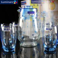 乐美雅家用冷水壶耐热玻璃杯子套装水杯水具7件套凉水杯玻璃包邮