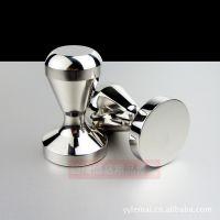 咖啡机配套器具 51mm 一体成型全不锈钢压粉器 填压器 压棒 粉锤