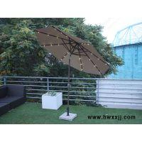 偏转灯光伞带灯中柱伞圆形2.7米酒吧街桌椅伞馨宁居户外遮阳伞