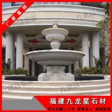 石雕流水钵 福建锈石喷泉,大型酒店水钵雕塑