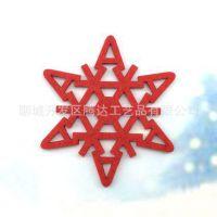 圣诞节毛毡挂件 激光雕刻镂空毛毡工艺品
