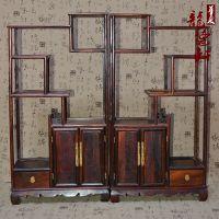 龙德轩红酸枝木雕博古架摆件实木简约现代中式客厅红木多宝格家具