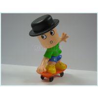 迪士尼动漫塑胶玩具卡通人物滑板运动员公仔摆件礼品东莞厂家加工定制