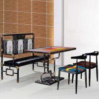 海德利厂家定制 LOFT美式乡村餐桌椅 水管道复古餐桌椅 批发