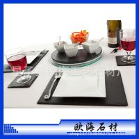 板岩餐盘 杯垫 工艺品等套装 餐桌高档餐饮用具 方形餐盘