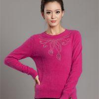 秋冬新款女式针织羊绒打底衫中老年套头修身简约纯色毛衣爆款