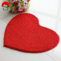 婚房装修婚庆用品爱心地毯超纤雪尼尔短毛爱心地垫/地毯50*60cm