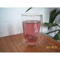 高硼硅茶具 /果汁杯/ 双层玻璃杯批发 双层果汁玻璃杯茶具批发