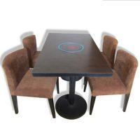 耐火板防火板高压密度板火锅桌 烧烤一体桌椅烤涮一体桌椅
