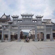 寺庙景区大型石牌坊 大理石五门石牌坊结构图