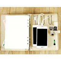 笔记本U盘+移动电源批发 真皮笔记本移动电源订制开发