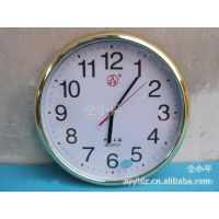 供应【三五5121高级石英钟】溜光镀金数字盘客厅挂钟 电子石英钟表