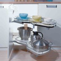 欧士勒转角小怪物飞碟置物架拉篮 厨房橱柜转角储物拉篮