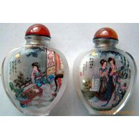 水晶内画-鼻烟壶 中国特色 民间工艺品 出国携带礼物