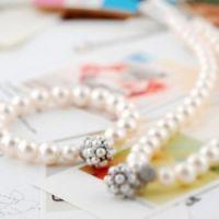 韩版饰品批发,珍珠水晶手链 新娘套链系列(白色)4194-1-69