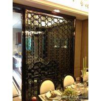 上海不锈钢彩色屏风办公室隔断客厅黑钛屏风花格金属屏风定制