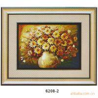 高档装饰壁挂 树脂浮雕画 立体工艺、挂件 餐桌盆花 6208-2